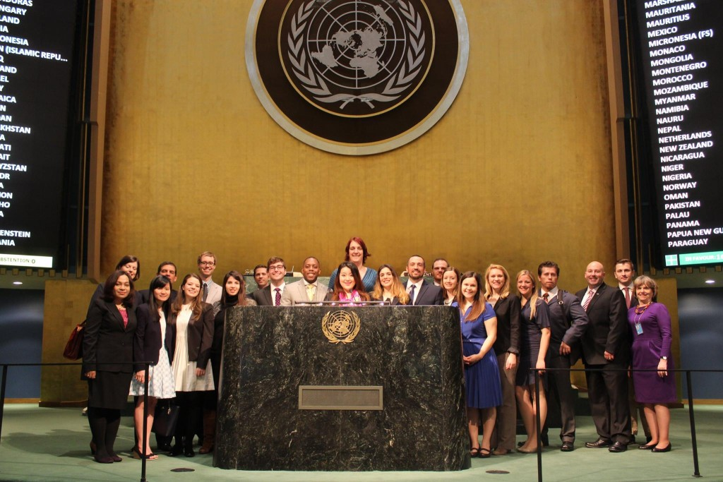 Bertini and Students at the General Assembly